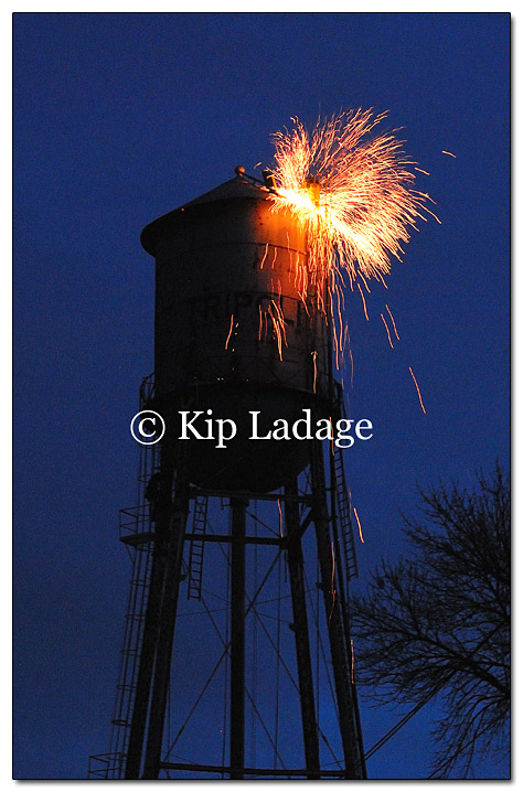 Water Tower Demolition K25 : Ladage photography photographs by kip s