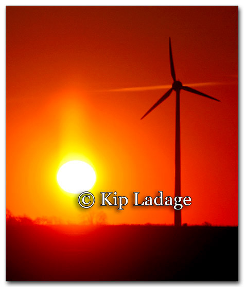 Winter Sunrise and Wind Generator - © Kip Ladage