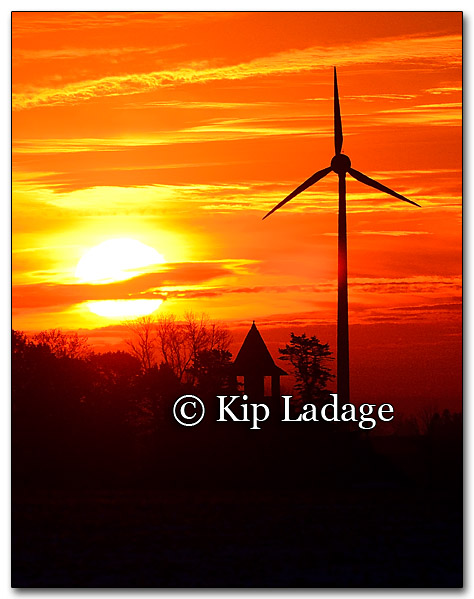 Wind Tower and Sunrise - Image 233035