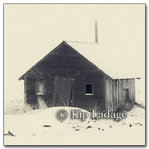 Old Building in Field - Image 239038r (Antique)