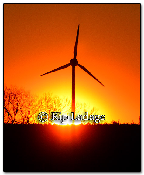 Sunrise and Wind Tower - Image 237684
