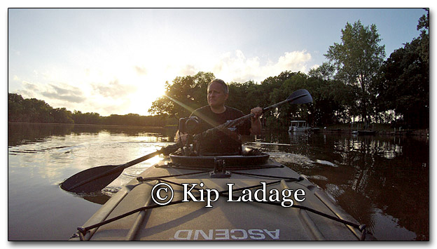 Paddling My Kayak on the Wapsipinicon RIver - Image GP G0016230