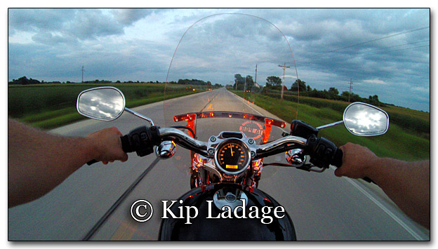 Harley Davidson From Chest-mounted GoPro - Image GP G0043566