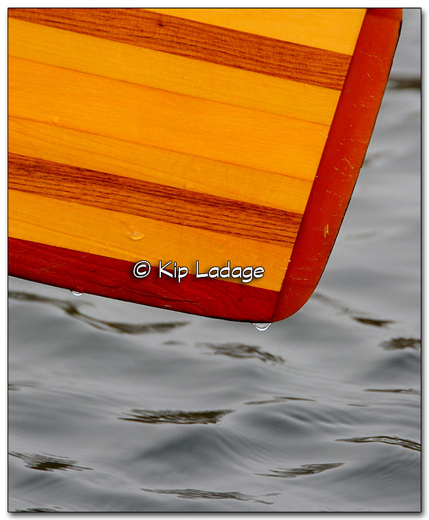 Water Drops on Canoe Paddle - Image 287836