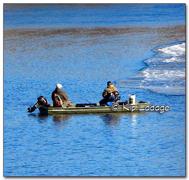 Anglers on Icy Cedar River - Image 289603