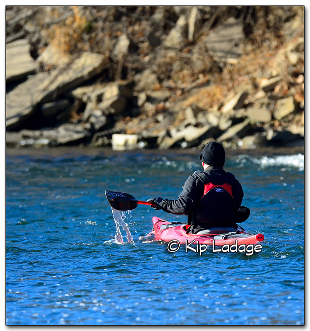 Darrin Paddling the Cedar River in December - Image 292215