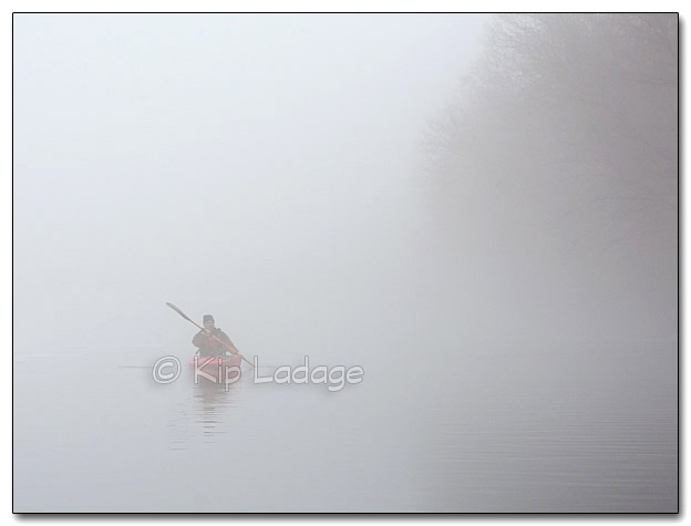 Paddling the Cedar River in Fog - Image 29099