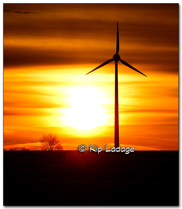 Sunrise and Wind Tower - Image 295871