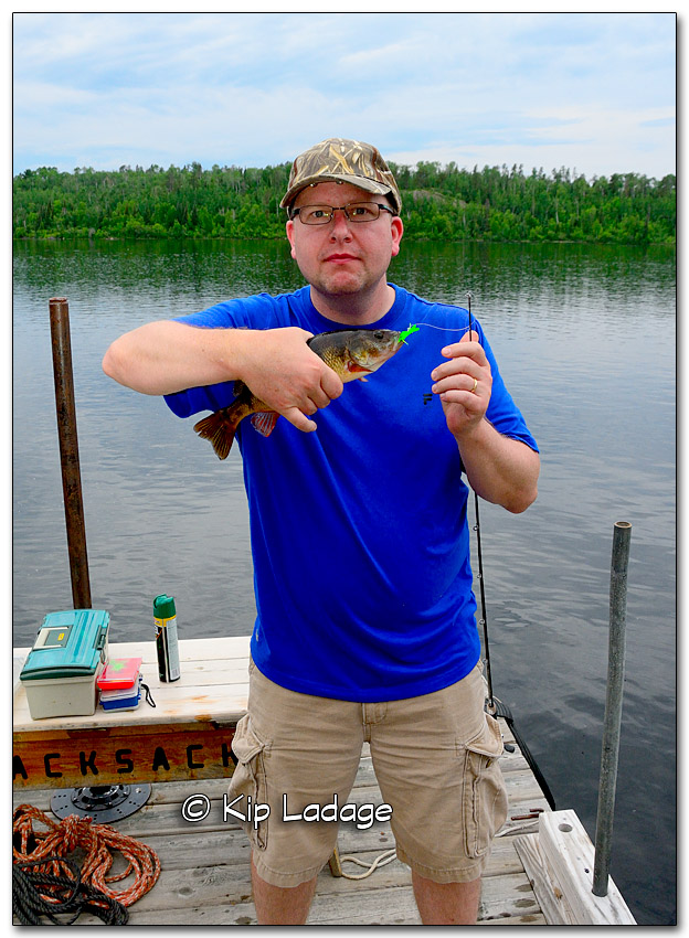 John with Fish at BWCA 2015 - PLC (326907)