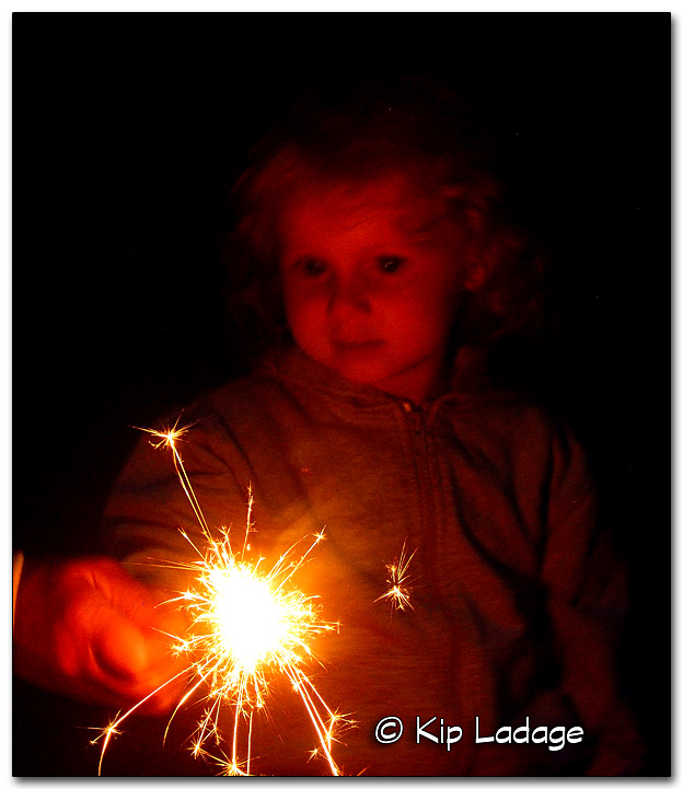 Emerson With Sparklers for the First Time - Image 328691
