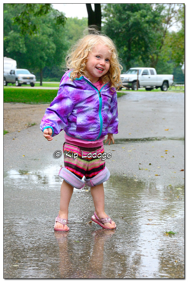 Emerson in Puddles - Image DSC_0490