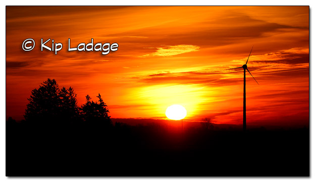 Wind and Solar Power at Sunrise - Image 346768