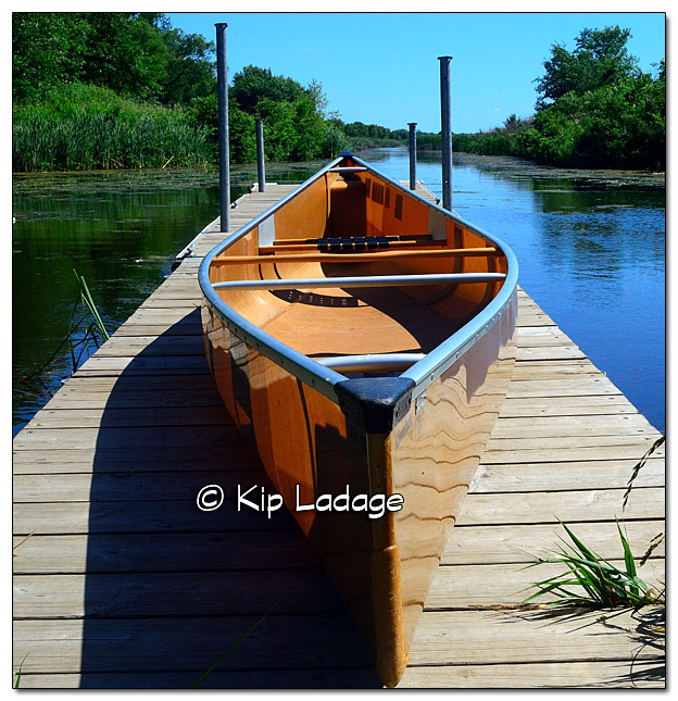 Wenonah Adirondack Canoe on Dock at Sweet Marsh - Image 386064