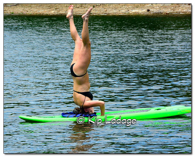 Natalie Doing a Handstand on Stand Up Board - Image DSC_9949