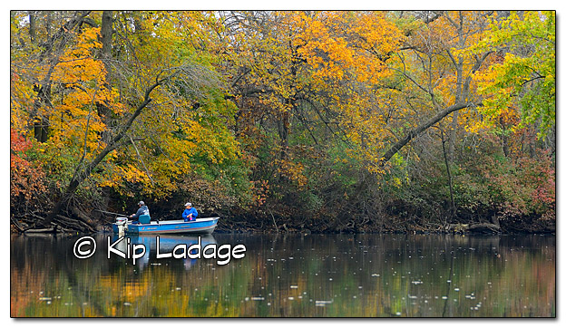 Anglers in Autumn on Wapsipinicon River - Image 401561 cropped