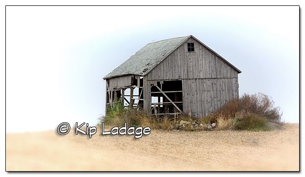 Old Wooden Barn on Hillside - Image 401833 - Filtered