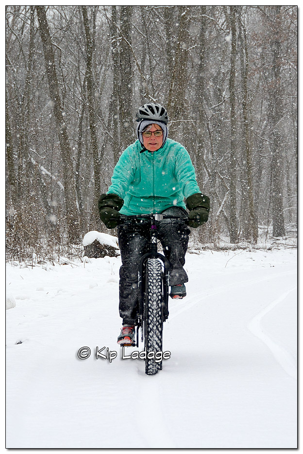Fat Tire Biking the Sweet Water Trail During a Winter Storm Warning - Image 408756