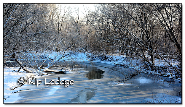 Scenic Wapsipinicon River After Ice and Snow Storm - Image 410912
