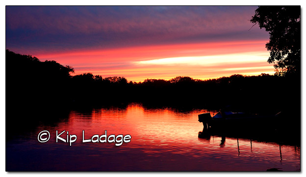 Sunset on the Wapsipinicon River - Image 465750 (© Kip Ladage)