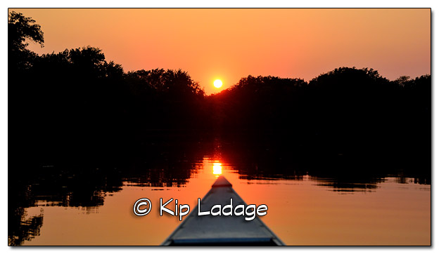 Sunset on Wapsipinicon River from Canoe - Image 461952 (© Kip Ladage)
