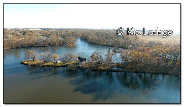 Indian Pond on the Wapsipinicon RIver Aerial - Image 472205 (© Kip Ladage)