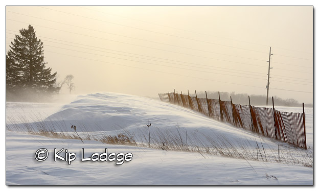 Effects of a Snow Fence - Image 481333 (© Kip Ladage)