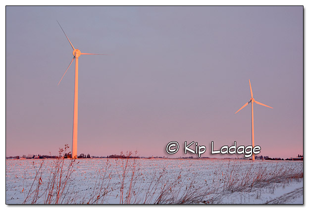 Wind Turbines at Sunrise - Image 480586 © Kip Ladage