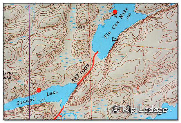 Boundary Waters Canoe Wilderness Area Topo Map - Image 509492 (© Kip Ladage)