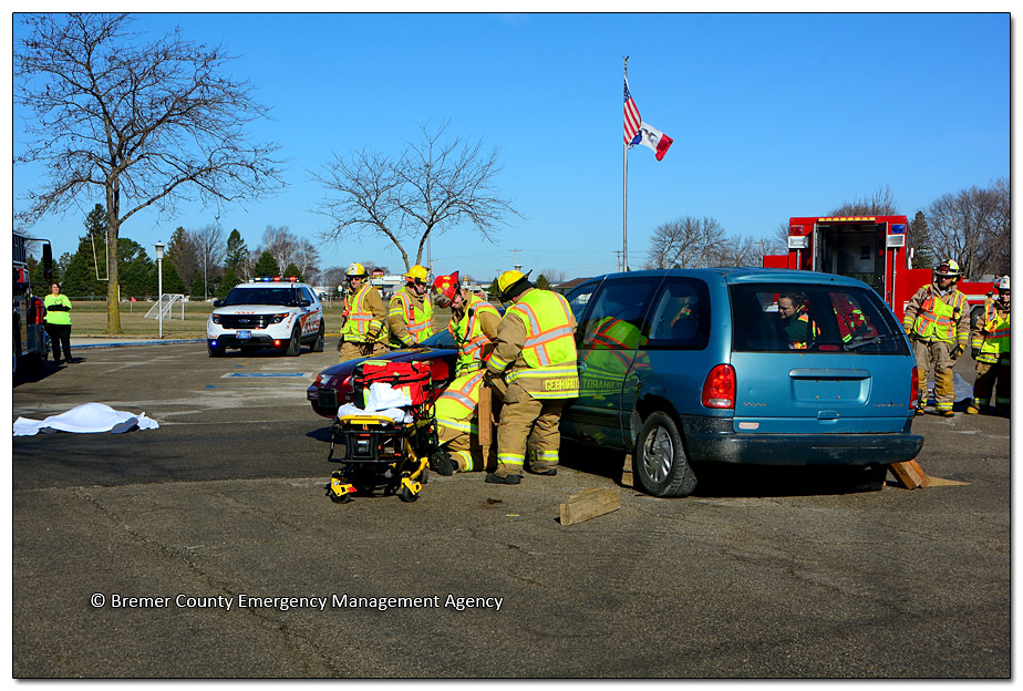 Distracted Driving Exercise at Tripoli High School - Image DSC_1587
