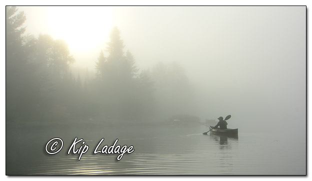 Paddling in Morning Fog on Fourtown Lake in BWCA - Image 575488 (© Kip Ladage)