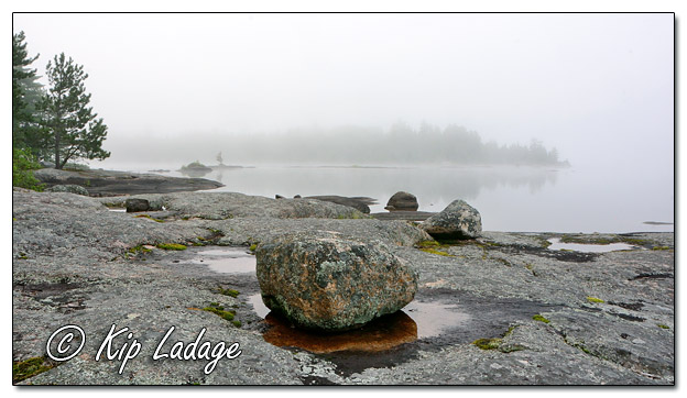 Rocky Shoreline at Fourtown Lake - Image