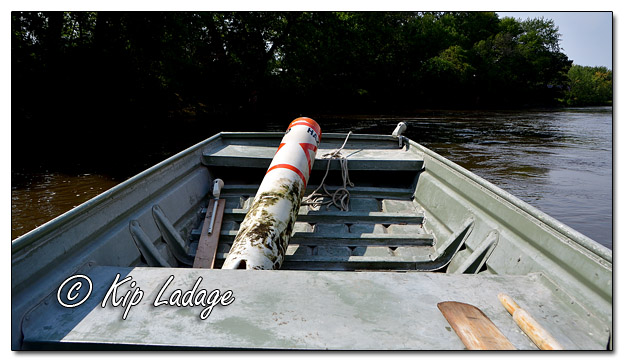 Hazard Buoy in Boat on the Cedar River - Image 588785 (Kip Ladage)