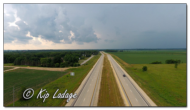 Highway 27 Before Storm During Search (© Kip Ladage)