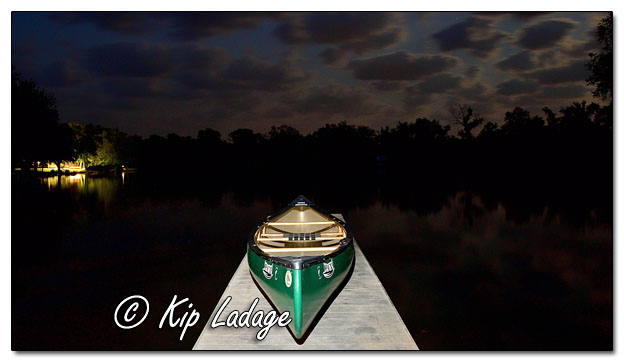 Old Town Pack Canoe on Dock at Night - Image 648549 (© Kip Ladage)
